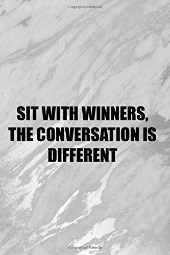 Sit With Winners, The Conversation Is Different: Blank Lined Notebook Journal Diary Composition Notepad 120 Pages 6x9 Paperback ( Chess ) 2