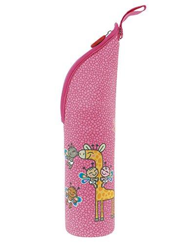 Preisvergleich Produktbild Katuki saguyaki Kinder–Thermoskanne für Flüssigkeiten 0,35l mit Neopren Tasche Pink und tapón-vaso