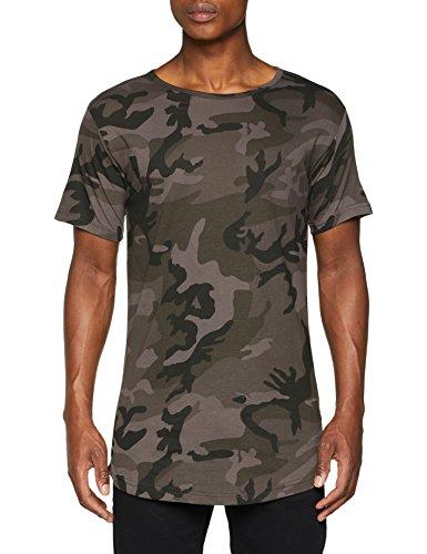 Urban Classics Herren T-Shirt Camo Shaped Long Tee, Mehrfarbig (Dark Camo 784), X-Large