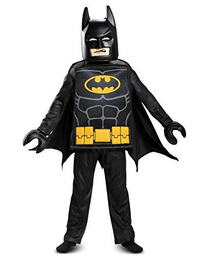LEGO Batman Movie, Batman Deluxe, Kostüm, M (7-8 J.), 127-136 cm (Halloween Kostüme Helden Und Schurken)