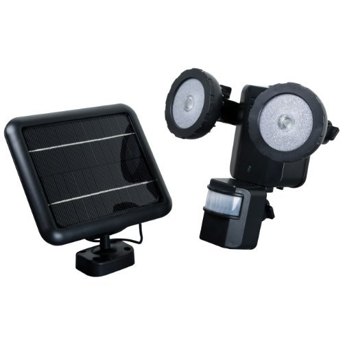 XEPA PSO1B Motion Activated Solar Powered LED Security Light, Black by XEPA