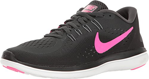Nike PerformanceFLEX 2017 RN - Scarpe Running Neutre - Anthracite/Pink Blast/Black