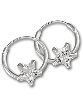 Teenie-Weenie Kinderschmuck - Ohrringe - Ohrstecker Stern Zirkonia weiß Sterling Silber 925 Ohrring SDO8704W