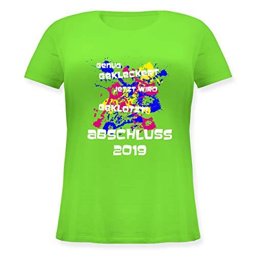 Abi & Abschluss - Jetzt Wird geklotzt - Abi 2019 - L (48) - Hellgrün - JHK601 - Lockeres Damen-Shirt in großen Größen mit Rundhalsausschnitt -