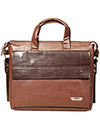 Sapphire Greece Brown Slim Laptop File Bags (Greece_Brown)