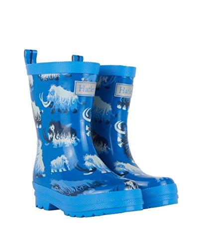 Hatley Jungen Printed Rain Boots Arbeits-Gummistiefel, Blau