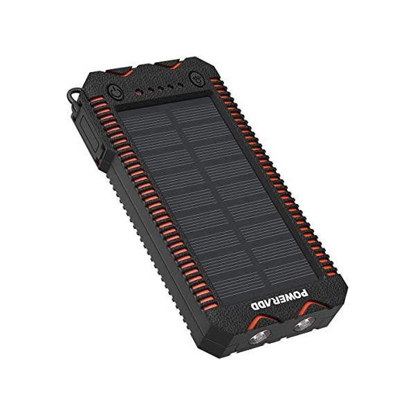 POWERADD Cargador Solar Portátil con 12000mAh, Batería Externa 2 Puertos de USB Panel Solar con Alta Eficiencia de…