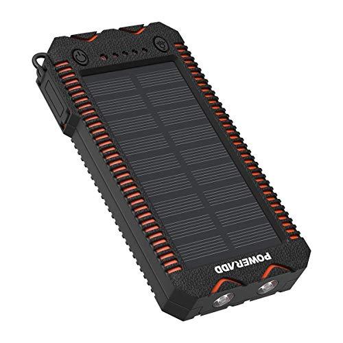 POWERADD Cargador Solar Portátil con 12000mAh, Batería Externa 2...
