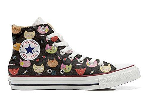 Converse All Star Hi chaussures coutume (produit artisanal) My Little Kitten