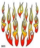 Quattroerre 911Aufkleber Flammen Tabelle