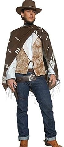 Confettery - Herren Wild Wild West Revolverhald Cowboy Karnevalskostüm, M, Mehrfarbig