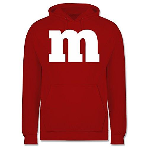 Erwachsene Für Kapuze Kostüm Hoodie Rot - Shirtracer Karneval & Fasching - Gruppen-Kostüm m Aufdruck - M - Rot - JH001 - Herren Hoodie