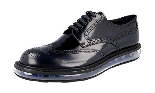 Prada 2EE098 P39 F0008, Herren Schnürhalbschuhe, Blau - Blau - Größe: 45 - Kleid Männer Schuhe Prada