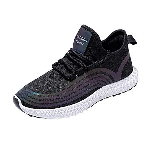 HOUMENGO Zapatillas Deportivas de Mujer Air Cordones Zapatillas de Running Fitness Sneakers Zapatos...