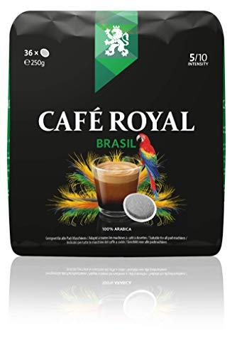 Café Royal Single Origin Brasil 36 (kompatible Kaffeepads für Senseo, Intensität 5/10) 1er Pack (1 x 36 Kaffee-Pads)