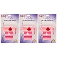Pixie Disposable Dispenser Bag & Refill, Pink, Pack of 3