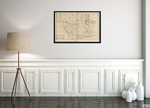 Bank New York (1783 Karte Grand Banks of Newfoundland Chart of The Banks of Newfoundland, gezeichnet aus Einer großen Zahl, historischer antiker Vintage-Nachdruck, fertig zum Einrahmen)