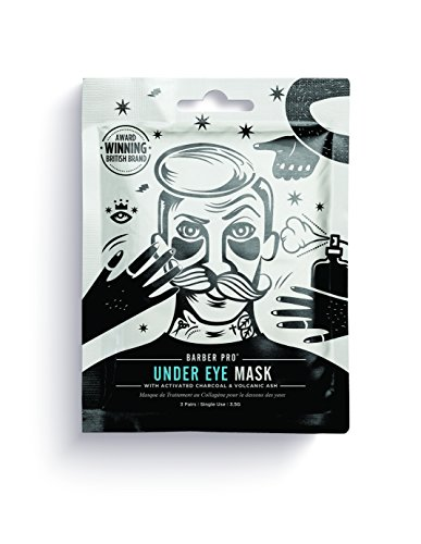 BARBER PRO UNDER EYE MASK with activated charcoal & volcanic ash (3 Applications)