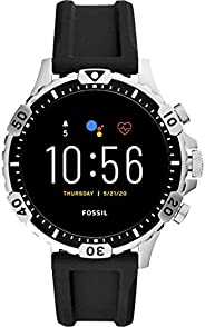 Fossil Garrett Hr Men's Multicolor Dial Silicone Digital Smartwatch - FTW