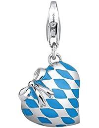 Elli Damen-Charm Herz 925 Sterling Silber 406670614