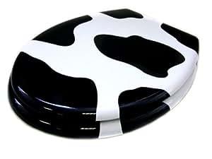 abattant wc lunettes de toilette avec dessin de la vache cuisine maison. Black Bedroom Furniture Sets. Home Design Ideas