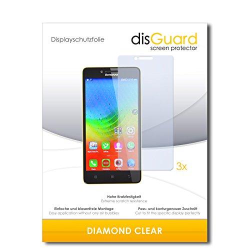 3 x disGuard® Schutzfolie Lenovo K3 Lemon Bildschirmschutz Folie