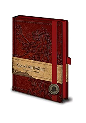 Game Of Thrones house lannister emblem new Official premium A5 Notebook One Size