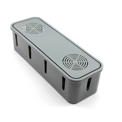 Tery Home Security Desktop Draht Sockel Aufbewahrungsbox Kabel Manager (grau) (Kabel Security Desktop)