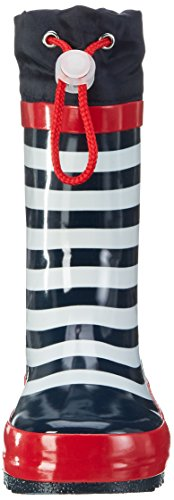 Playshoes Unisex-Kinder Maritim Gummistiefel, Blau (Marine/Weiß), 22/23 EU -