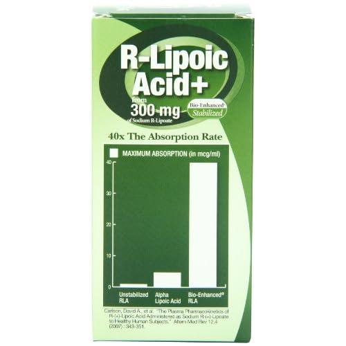 41WvbrLxXaL. SS500  - Genceutic Naturals R-Lipoic Acid 300 Mg, 60-Count
