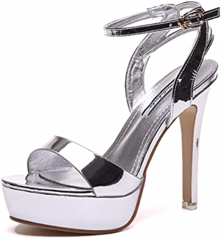 fa4bd88d531 GTVERNH Women S Women S Women S Shoes Word Belt Thin Heel Toes Sandals  Joker 12Cm High Heel Shoes Summer Waterproof Table Women S.