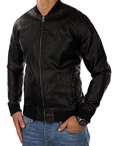 JACK   JONES Herren Kunstlederjacke jorROLLOUT Bomberjacke Regular Fit (XL,  Schwarz (Black Fit 3cb0f26738