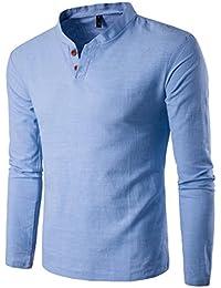 Camicia da uomo , feiXIANG® T-Shirt shirts Camicia Camicie Polo camicetta Cappotto giacca Maglione Felpe Hoodie pullover Uomo manica lunga Felpa a maniche Solid Top Tee Lino
