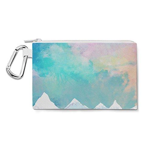 Mountain Top Lever de soleil sur toile Zip Pouch – Multi Purpose Trousse Sac en 6 tailles XL Canvas Pouch 12x9 inch bleu