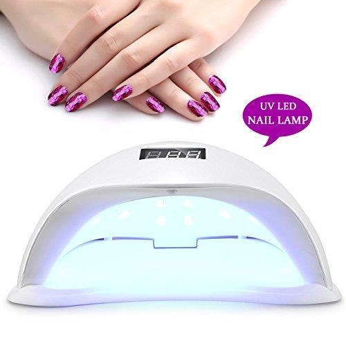 Roleadro 48W Led Lampara de Uñas Secador para Led UV Uñas Gels...