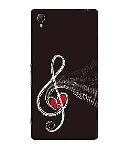 FUSON Designer Back Case Cover for Sony Xperia M4 Aqua :: Sony Xperia M4 Aqua Dual (Art Classic Guitar Hobby Instrument )