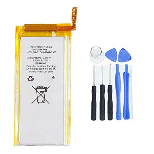 Marke neue 3,7V 930mAh Li-Ion Akku Ersatz für iPod nano 55. Gen. mit Werkzeug (5. Verwendet Ipod Gen Nano)