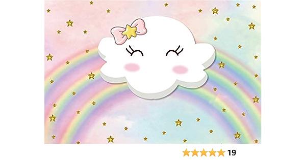 Yeele 17 8 X 152 4 Cm Cartoon Wolke Regenbogen Kamera