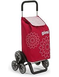 Gimi Tris Floral Einkaufstrolley, rot