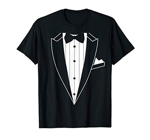 Kostüm Shirt Tuxedo Grün - Smoking T-Shirt Junggesellenabschied Kostüm Fliege TShirt