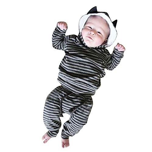 Quaan Neugeborenes Baby Säugling Jungen Mädchen Gestreift Ohr -