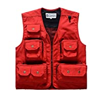 Daoba Men Outdoor Vest Photography Camping Hunting Fishing Waistcoat Jacket Hiking Tops