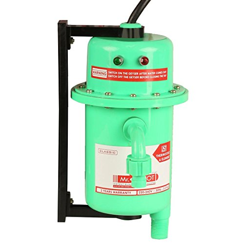 Mr.SHOT Instant Running Water Heater Made of First Class ABS Plastic / Auto Reset Model / Color Green