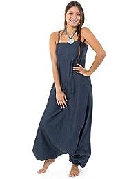 - Combinaison sarouel denim blue jean soft ethnic street Salma -