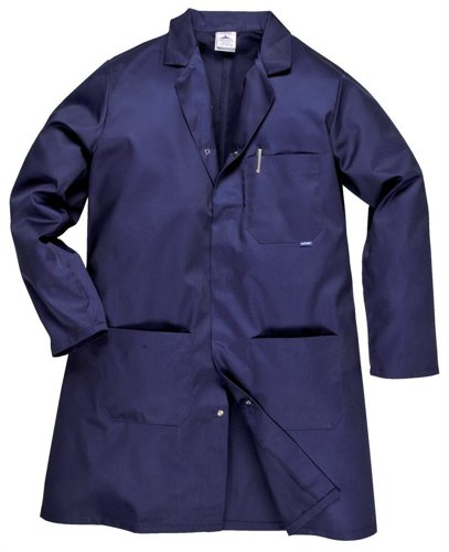 Portwest Hygiene & Warehouse Coat Multiple-pockets Vented Medium Navy Ref 2852MED Nvy -