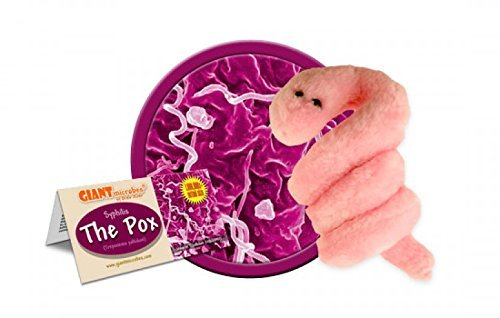 GIANT Microbes Plush Doll The Pox - Syphilis (Treponema pallidum)