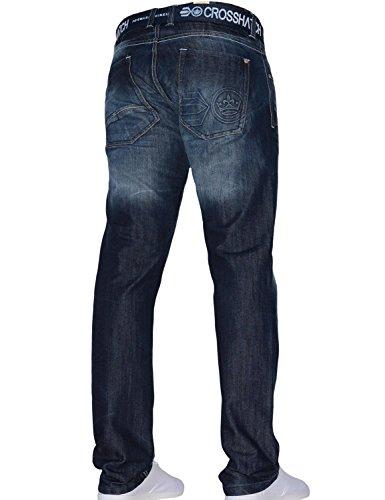 Crosshatch -  Jeans  - Straight  - Uomo Techno Dark Blue