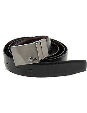 LACOSTE Reversible Curved Belt W85 Black