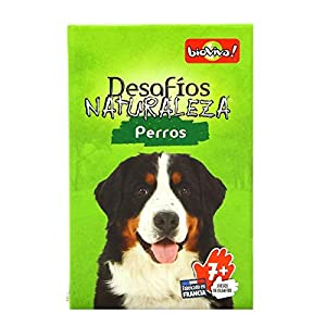 Bioviva- Desafios Naturaleza: Perros - Juego de Cartas - Español (DES12ES)
