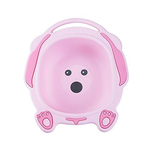 Faltende Badewanne JCOCO Baby Waschbecken Newborn Baby Waschbecken Kinder Waschbecken Waschen Der Hintern (Farbe : Pink) -